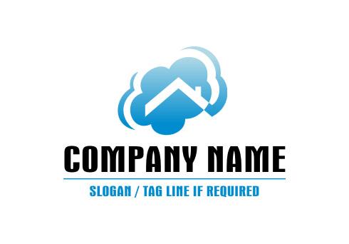 Real Estate Website Design on Pre Designed Logo  Real Estate Cloud Logo