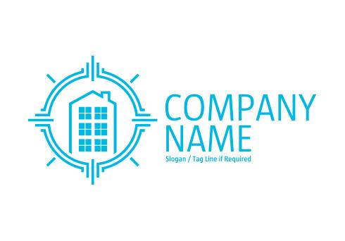 Apartment block logo for Apartment logo design