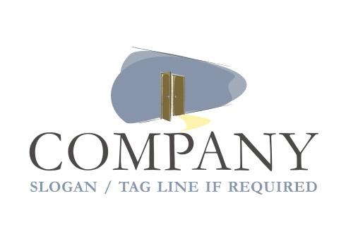 Elegant Open Door Logo