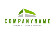 Green Roof Logo Design